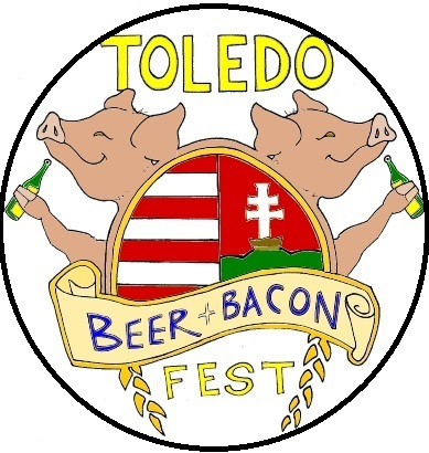 beer and bacon badge